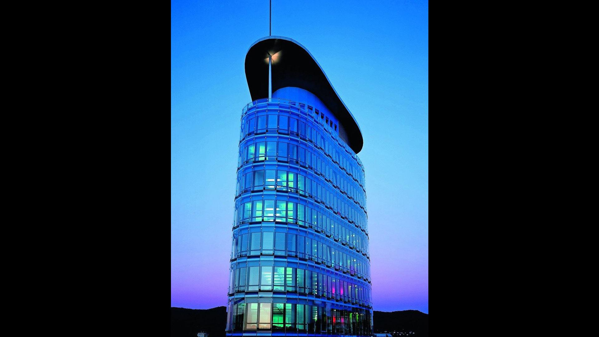 Beleuchteter SRH Tower